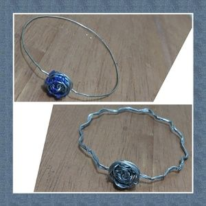 Bundle 2 elegant wire wrapped bracelets
